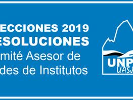 Elecciones 2019 - Resolución Comité Asesor de Sedes de Institutos