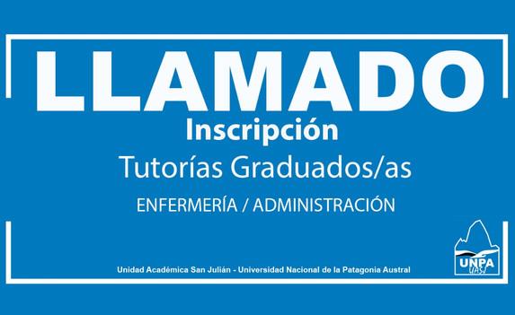 Llamado - Inscripción Tutorías Graduados/as