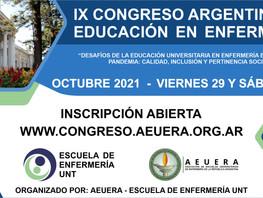 IX Congreso Argentino de Educación en Enfermería