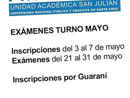 Exámenes Finales - Turno Mayo