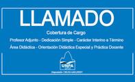 Llamado a Cobertura de Cargo Profesor Adjunto - Dedicación Simple – Área Didáctica
