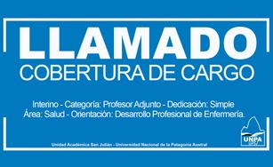 Cobertura de Cargo -  Interino, categoría: Profesor Adjunto - Dedicación: Simple - Área: Salud - Ori