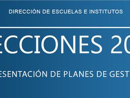 Elecciones 2021 | Junta Electoral Escuelas e Institutos UASJ | Presentación de Planes de Gestión