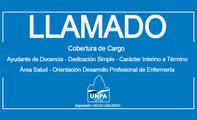 Llamado a Cobertura de Cargo - Ayudante de Docencia - Dedicación Simple - Área Salud