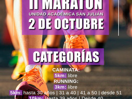 II MARATÓN - Unidad Académica San Julián - 2 de octubre 2021