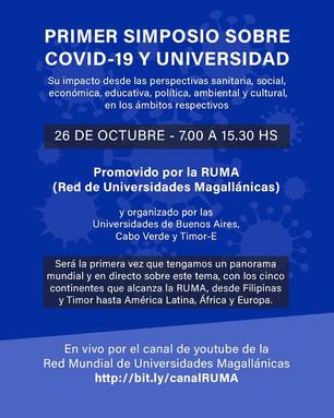 Red Mundial de Universidades Magallánicas SIMPOSIO 'COVID-19 Y UNIVERSIDAD'