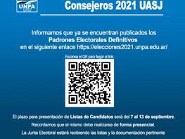 Junta Electoral Consejeros UASJ 2021
