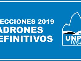 Elecciones 2019 - Padrones definitivos
