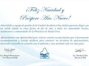 UASJ: salutación para autoridades locales, instituciones y comunidades de la Provincia de Santa Cruz