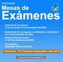 Mesas de exámenes - Turno diciembre