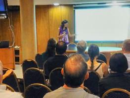 Carla Moscardi en el décimo Taller Nacional del Observatorio Nacional de la Degradación de Tierras y