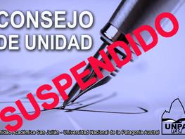 Consejo de Unidad suspendido
