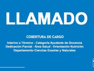 UASJ: Cobertura de Cargo Interino a Término, Cat. Ayudante de Docencia, Ded. Parcial, Área Salud