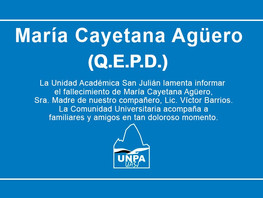 Q.E.P.D - María Cayetana Agüero