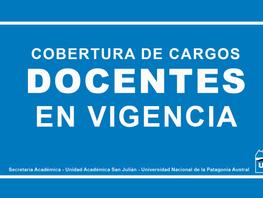 Llamados Vigentes - Coberturas de Cargos Docentes