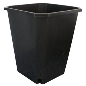 11L Square Black Pot