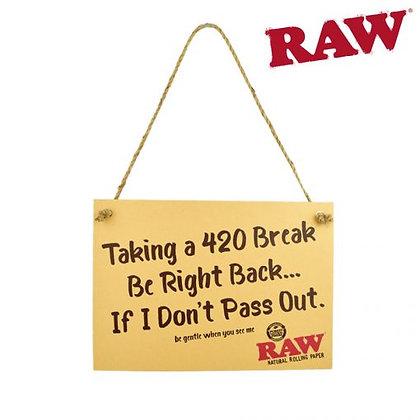 Raw Cardboard Sign