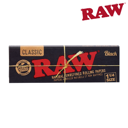 Raw Black 1 1/4 Papers