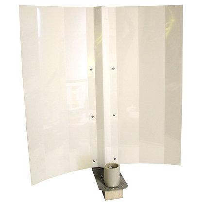 "ReflectSun Light Fixture - Reflector White Angel 24"" with Socket Box"
