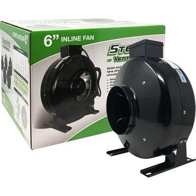 """Stealth Ventilation In-line Fan 120V 6"""" 460CFM"""
