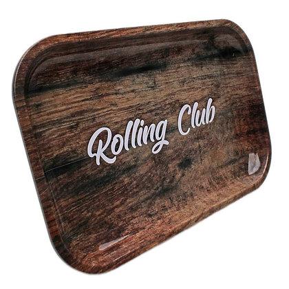 Rolling Club Woodgrain Tray