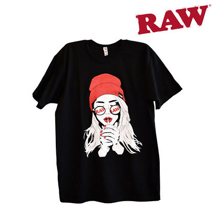 Raw Smoking Girl Shirt