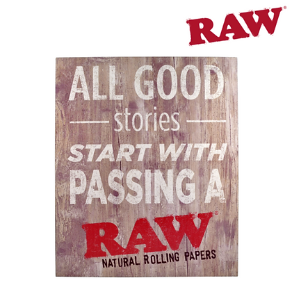 Raw Wooden SIgn