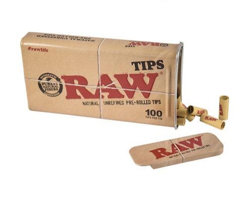 Raw Prerolled Tips Tin