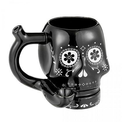 Sugar Skull Mug Pipe