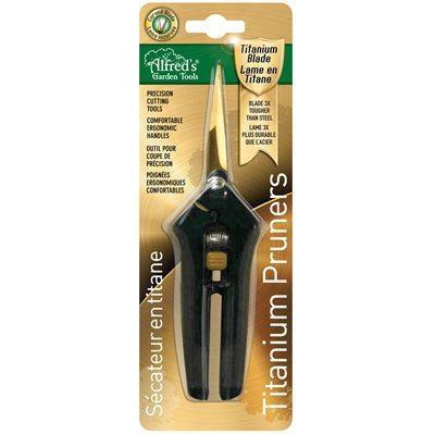 Alfred's Tools Straight Titanium Pruner