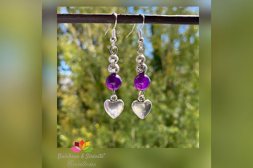 "Boucles d'oreille ""Compassion"""
