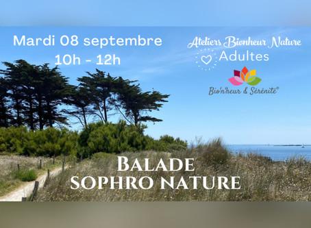 Balade Sophro Nature - Mardi 08 septembre de 10h à 12h