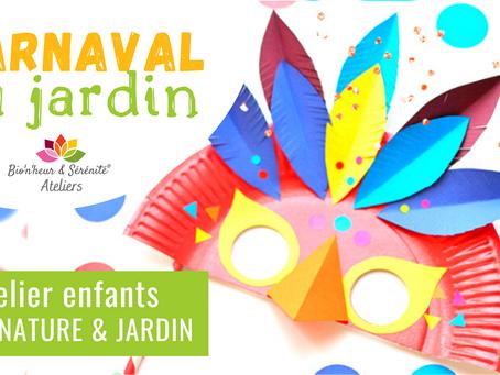 Atelier Éveil nature & jardin - Carnaval au jardin