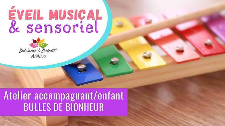 Atelier accompagnant/enfant - Éveil musical & sensoriel