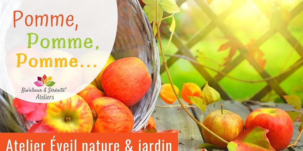 Atelier enfants Éveil nature & jardin - Pomme, pomme, pomme...