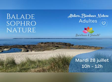 Balade Sophro Nature - Mardi 28 juillet de 10h à 12h