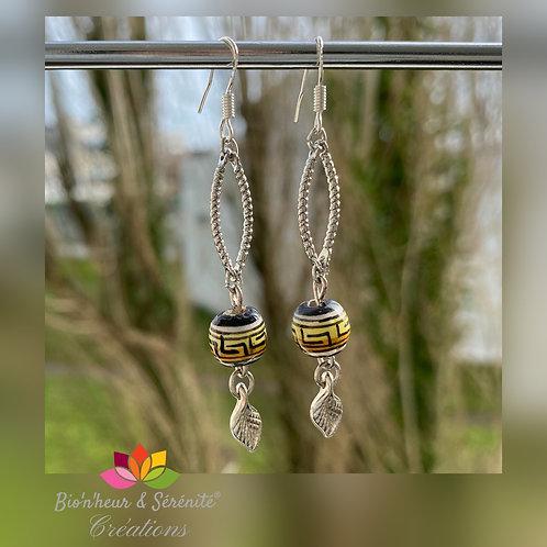 Boucles d'oreille motifs incas