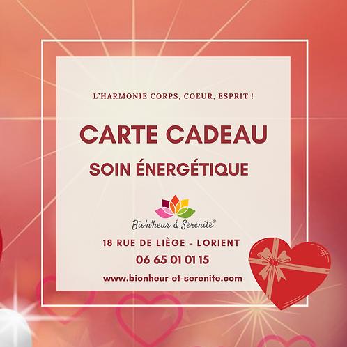 Carte cadeau - Soin énergétique - Adulte