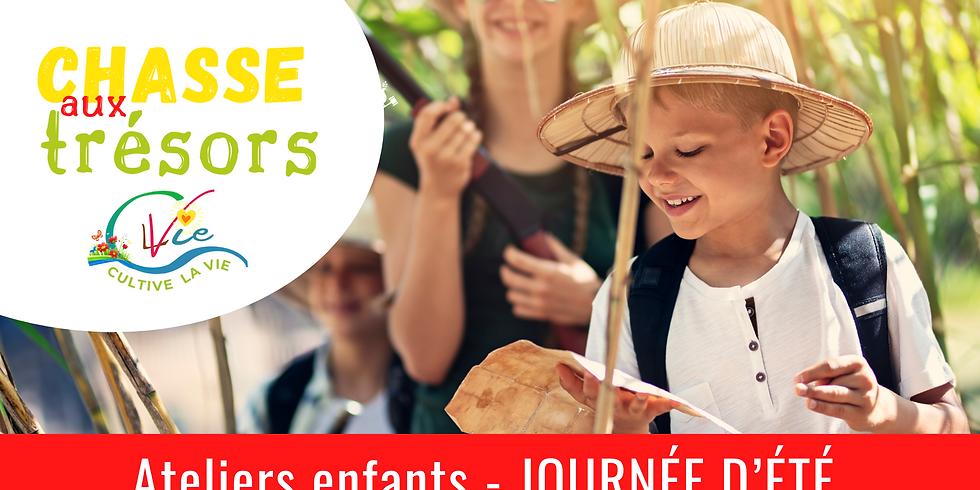 JOURNÉE D'ÉTÉ - Ateliers enfants - Chasse aux trésors