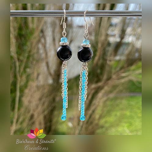 Boucles d'oreille perles