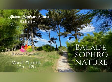 Balade Sophro Nature - Mardi 21 juillet de 10h à 12h