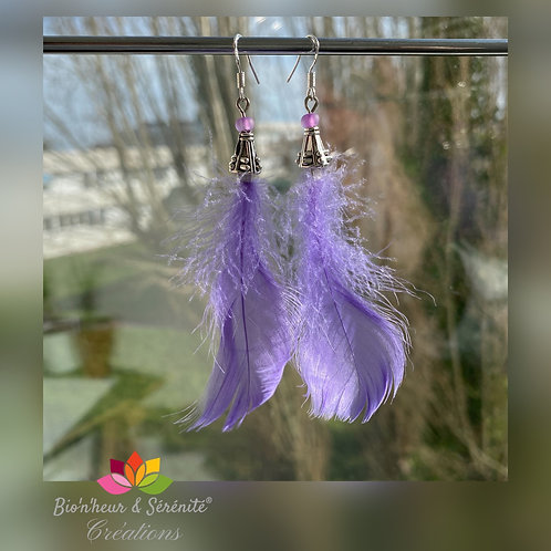 Boucles d'oreille plumes