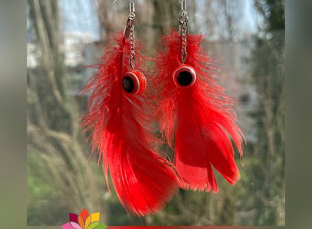 "✨ Boucles d'oreille collection Plumes ""Chaman"" ❤️"