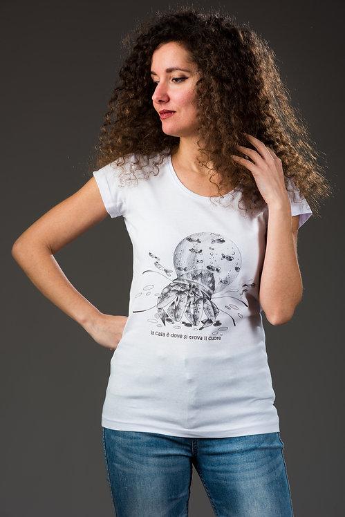 """T-Shirt  """"LA CASA È DOVE SI TROVA IL CUORE"""""""