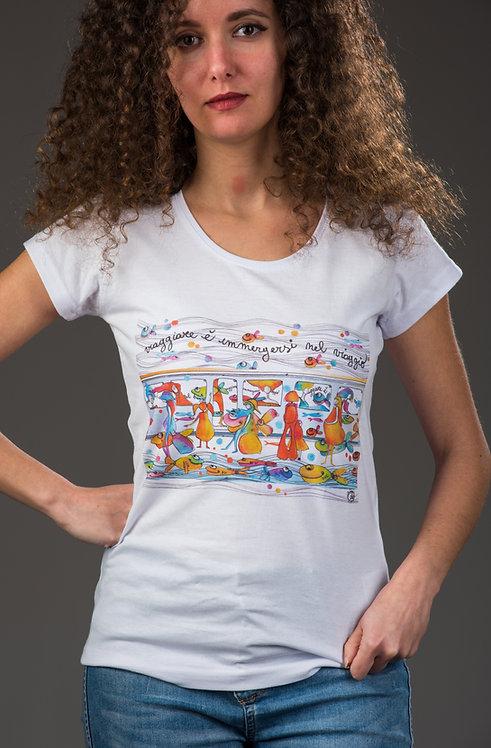 """T-Shirt  """"VIAGGIARE È IMERGERSI NEL VIAGGIO"""""""