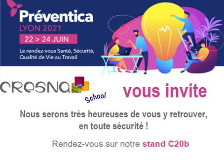 Nous serons présents au Salon Préventica Du 22 au 24 Juin 2021 !