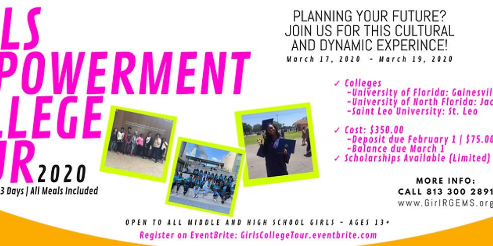 Girls Empowerment College Tour March 17-19 (Spring Break) (1)