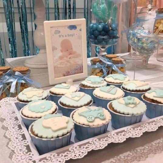 Baby Light Blue Cupcake