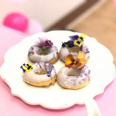 Edible Flower Donut