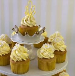 Yellow Flower Cupcake